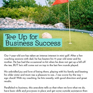 Tee Up for Success EDM #2